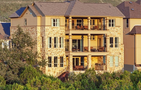 River Oaks Homes Model in Sweetwater Back Exterior