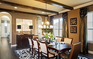 River Oaks Homes Model in Sweetwater Dining Room