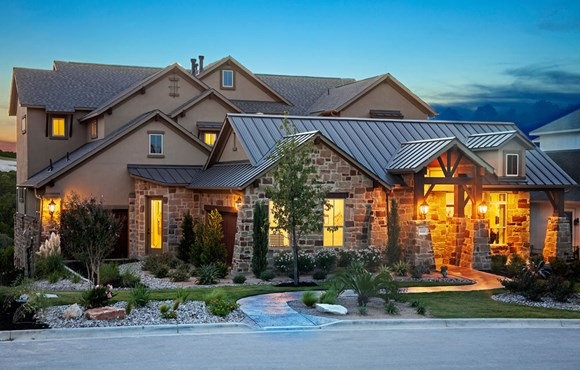 River Oaks Homes Model in Sweetwater Exterior