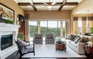 River Oaks Homes Model in Sweetwater Living Room
