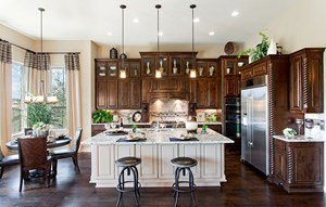 River Oaks Homes Model in Sweetwater Kitchen