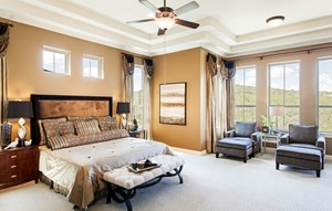 River Oaks Homes Model in Sweetwater Master Bedroom