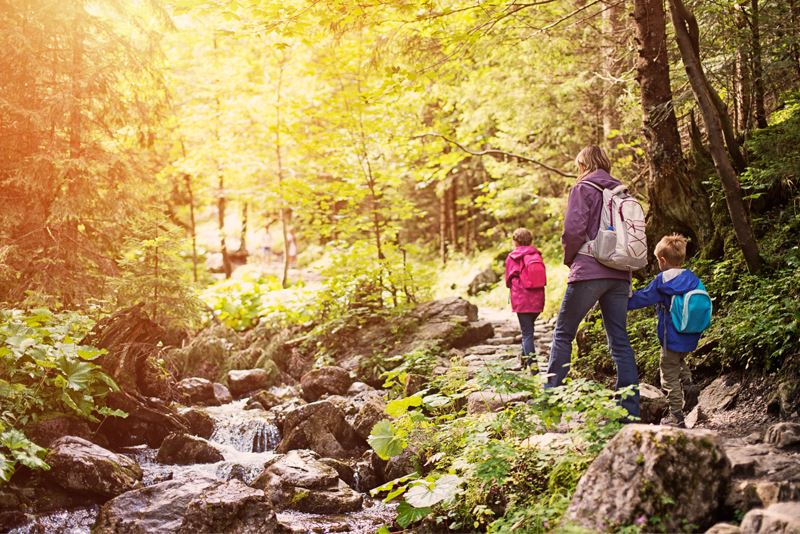 Hill Country Reaction - Family Hiking
