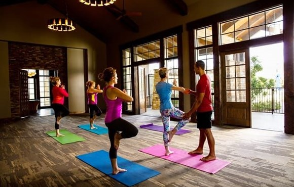 Yoga Class in Sweetwater Clubhouse