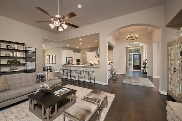 Perry Homes Model Home Interior in Sweetwater Austin, TX