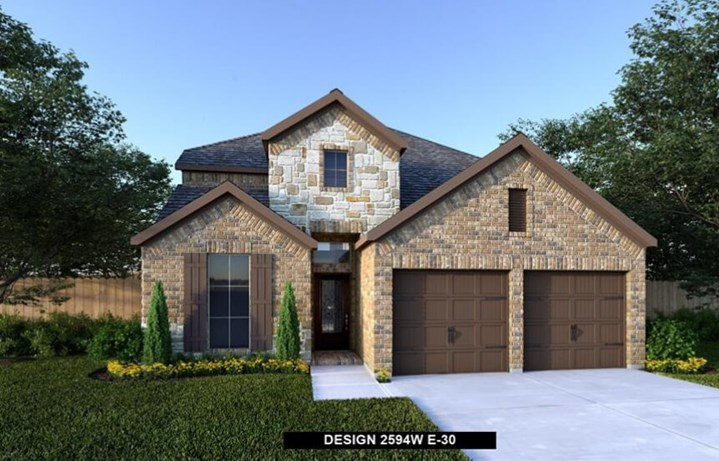 Perry Homes Plan 2594W. Elev
