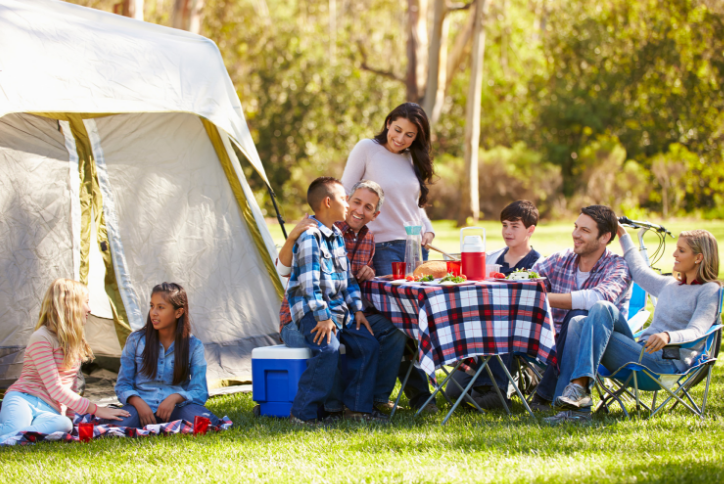 fall is perfect for family camping trips in the texas hill country
