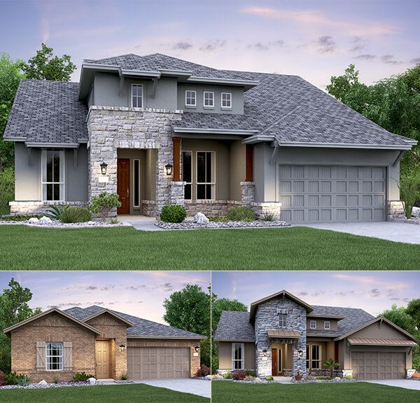 Home renderings by Village Builders at Madrone Ridge neighborhood in Sweetwater Austin, TX